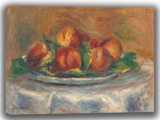 Renoir, Pierre Auguste: Peaches on a Plate. Fine Art Canvas. Sizes: A4/A3/A2/A1 (003948)